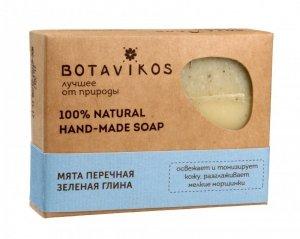 Botavikos Mydło ręcznie robione 100% naturalne Mięta Pieprzowa i Zielona Glinka 100g