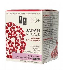 AA Japan Rituals 50+ Aktywny Bio-Krem na noc - endo lifting  50ml