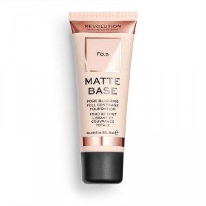 Makeup Revolution Podkład matujący do twarzy Matte Base Foundation F0.5  28 ml