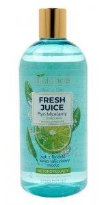 Bielenda Fresh Juice Płyn micelarny detoksykujący z wodą cytrusową Limonka 500ml