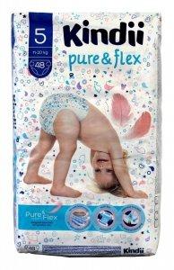 Kindii Pure & Flex Pieluchy jednorazowe 5 (11-20kg)  1op.-48szt