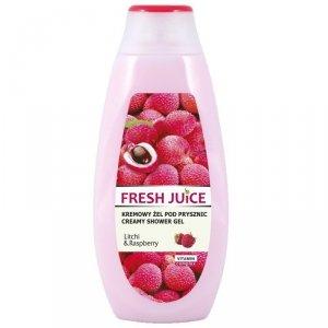 Fresh Juice Kremowy Żel pod prysznic Litchi & Raspberry  400ml