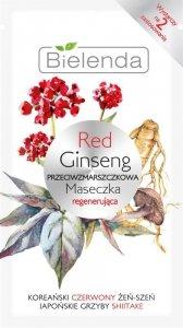 Bielenda Red Ginseng Przeciwzmarszczkowa Maseczka regenerująca 8g