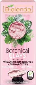Bielenda Botanical Clays Różowa Glinka Wegański Krem na dzień i noc 50ml