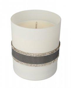 ARTMAN Crystal Glass Świeca zapachowa Black biała 1szt