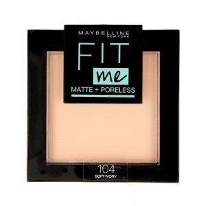 Maybelline Fit Me! Puder kompaktowy Matte+Poreless nr 104 Soft Ivory  9g