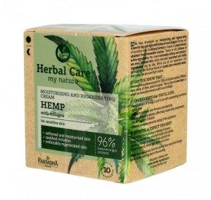 Farmona Herbal Care Hemp Krem nawilżająco-regenerujący - cera wrażliwa 50 ml