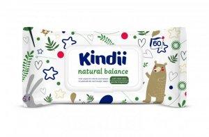Kindii Natural Balance Chusteczki oczyszczające dla dzieci i niemowląt  1op.-60szt
