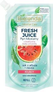 Bielenda Fresh Juice Płyn micelarny kojący z wodą cytrusową Arbuz 500ml - doypack
