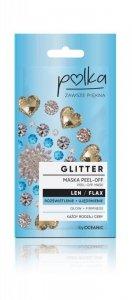POLKA Len Maseczka do twarzy Glitter peel-off Rozświetlenie+Ujędrnienie 6ml