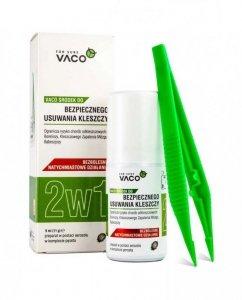 VACO ECO Środek do bezpiecznego usuwania kleszczy 2w1 9ml + pęseta