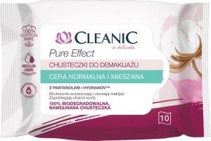 Cleanic Chusteczki do demakijażu Pure Effect - cera normalna i mieszana 1op.-10szt