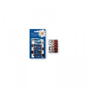 Top Choice  Zestaw ozdób do włosów (spinki PYK 6szt+Gumki 6szt) 28083  1op.
