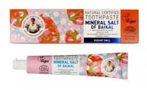Receptury Babuszki Agafii Pasta do zębów promienny uśmiech Mineral Salt of Baikal 85g