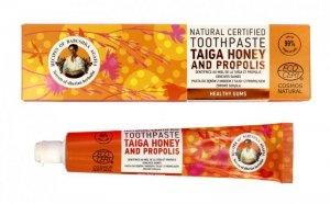 Receptury Babuszki Agafii Pasta do zębów zdrowe dziąsła Taiga Honey and Propolis 85g