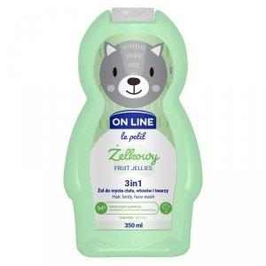 On Line Le Petit Żel do mycia ciała,włosów i twarzy 3w1 dla dzieci Żelkowy  350ml