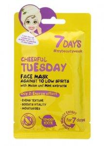 VILENTA 7 Days Maska na twarz energizująca Cheerful Tuesday  28g