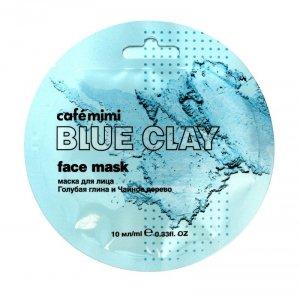 Cafe Mimi Blue Clay Maseczka do twarzy Niebieska Glinka & Drzewo Herbaciane  10ml