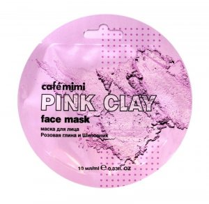 Cafe Mimi Pink Clay Maseczka do twarzy Różowa Glinka & Dzika Róża  10ml