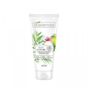 Bielenda Eco Nature Peeling do twarzy detoksykujący - Woda Kokosowa & Zielona Herbata & Trawa Cytrynowa 150g