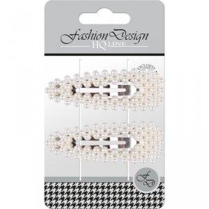 Top Choice Fashion Design Spinki typu Pyk perła biała (23798)  1op.-2szt