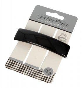 Top Choice Fashion Design Spinka do włosów automatyczna czarna-połysk (26317) 1szt