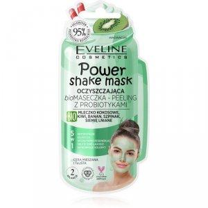 Eveline Power Shake Mask Oczyszczająca Bio Maseczka - peeling z probiotykami 5w1  10ml