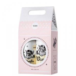YOPE Zestaw prezentowy Wanilia i Cynamon (mydło w płynie 500ml+balsam do rąk 300ml)