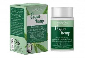 Marion Vegan Hemp Rozświetlający Pyłek do mycia twarzy Konopia&Pył diamentowy+Prebiotyk 30g