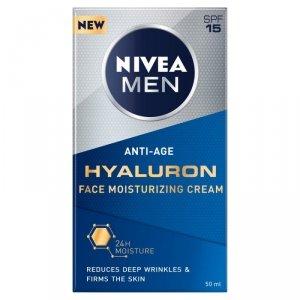 NIVEA MEN Krem przeciwzmarszczkowy Anti-Age Hyaluron SPF15  50ml