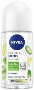 Nivea Dezodorant damski Naturally Good Bio Aloe Vera - roll-on 50ml