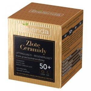 Bielenda Złote Ceramidy Liftingująco-Regenerujący Krem przeciwzmarszczkowy 50+ na dzień i noc  50ml