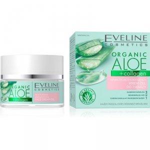 Eveline Organic Aloe Nawilżająco - Łagodzący Krem-żel do twarzy 3w1 - cera każdego rodzaju 50ml