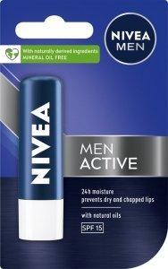 Nivea Lip Care Pomadka ochronna ACTIVE CARE for men  4.8g