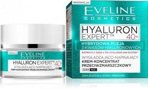 Eveline Hyaluron Expert 40+ Krem-koncentrat wygładzająco-napinający na dzień i noc  50ml