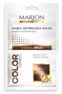 Marion Color Esperto Maska odżywiająca do włosów w odcieniu brąz 2x20ml