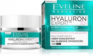 Eveline Hyaluron Expert 70+ Krem-koncentrat multiodżywczy na dzień i noc  50ml