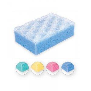 Top Choice Gąbka do kąpieli prostokąt mix 4 kolorów