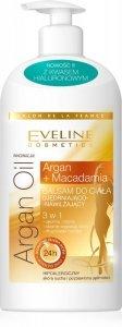 Eveline Salon De La France Balsam do ciała ujędrniająco-nawilżający 3w1  Argan Oil & Macadamia 350ml