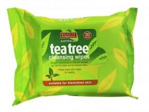Beauty  Formulas Tea Tree Chusteczki oczyszczające od twarzy  1op.-30szt