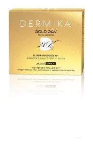 Dermika Gold 24k Total Benefit 45+ Krem-eliksir młodości na dzień i noc  50ml