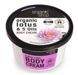 Organic Shop Krem do Ciała Indyjski Lotos BDIH 250 ml