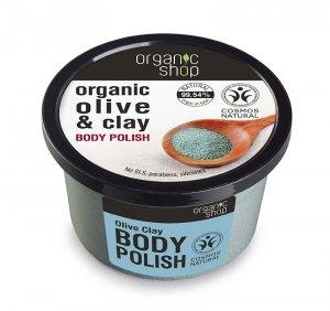 Organic Shop Peeling do ciała Niebieska Glinka 250ml