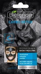 Bielenda Carbo Detox Czarny Węgiel Maska oczyszczająca do cery suchej i wrażliwej  8g
