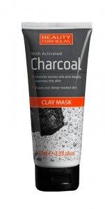 Beauty Formulas Charcoal Maseczka z glinką głęboko oczyszczająca z aktywnym węglem  100ml