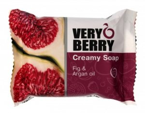 Very Berry Mydło kremowe w kostce Fig & Argan Oil  100g