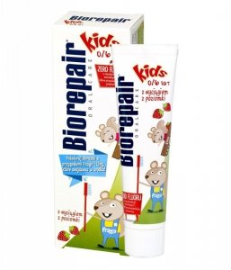 Biorepair Oral Care Pasta do zębów Kids-Poziomka 0-6  50ml