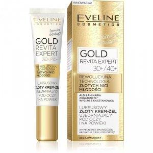 Eveline Gold Revita Expert 30+/40+ Luksusowy złoty Krem-żel ujędrniający pod oczy i na powieki  15ml