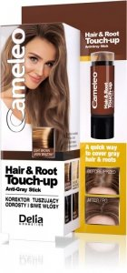Delia Cosmetics Cameleo Hair&Root Touch-up Korektor tuszujący odrosty i siwe włosy - jasny brąz  1szt