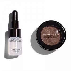 Makeup Revolution, Flawless Foils Overcome, foliowy cień + primer